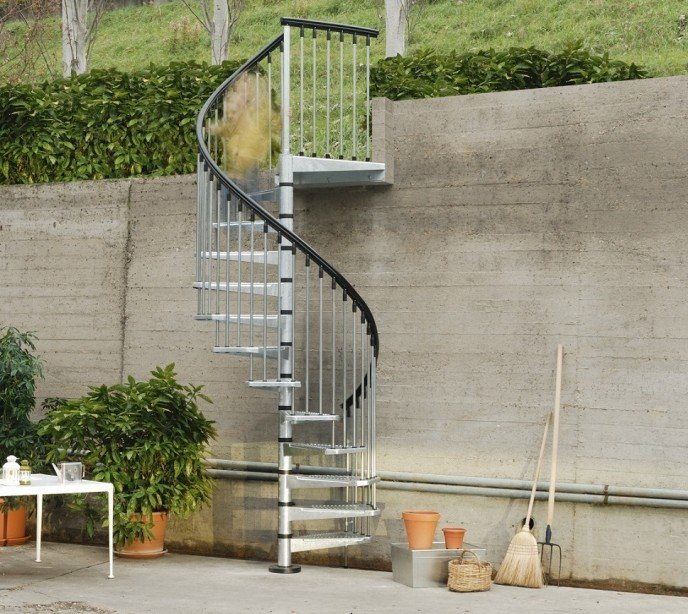Оцинкованная винтовая лестница Civik Zink