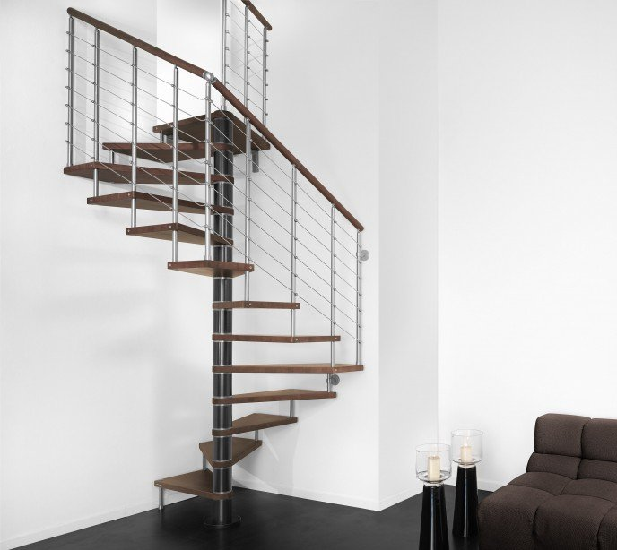 Квадратно-винтовая лестница Genius Q50