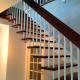 Маршевая лестница на больцах и тетиве Лира Колор