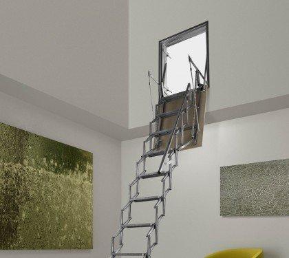 Раздвижная лестница для проема в стене Aci Verticale