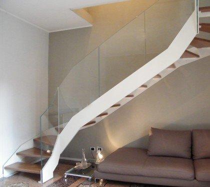 Элитная лестница со стеклом Thema Double