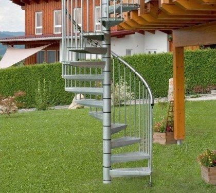 Винтовая оцинкованная лестница Rondo Zink