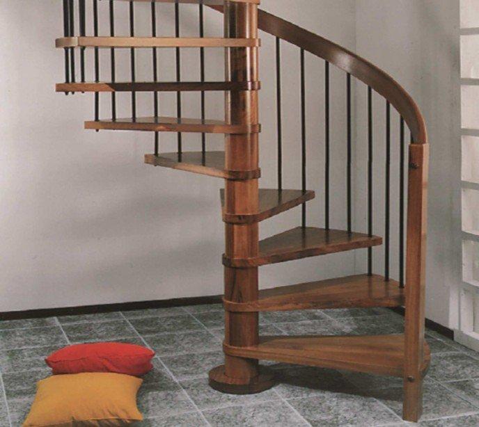 Деревянная винтовая лестница Emme 88