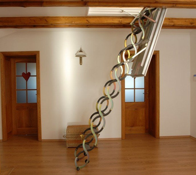 Чердачная лестница с утепленным люком Ножничная Lux