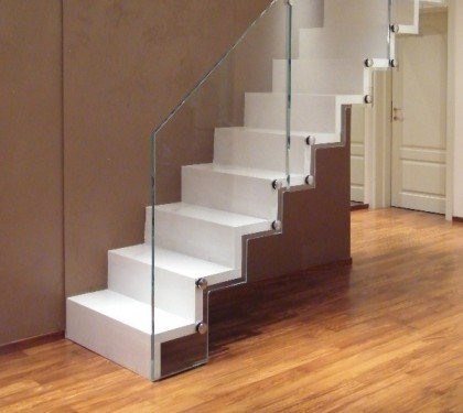 Маршевая лестница на больцах Wall S