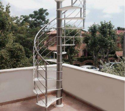 Винтовая металлическая лестница Emme Esterna