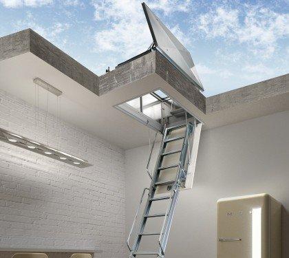 Складная лестница для плоской крыши Aci Terrazo