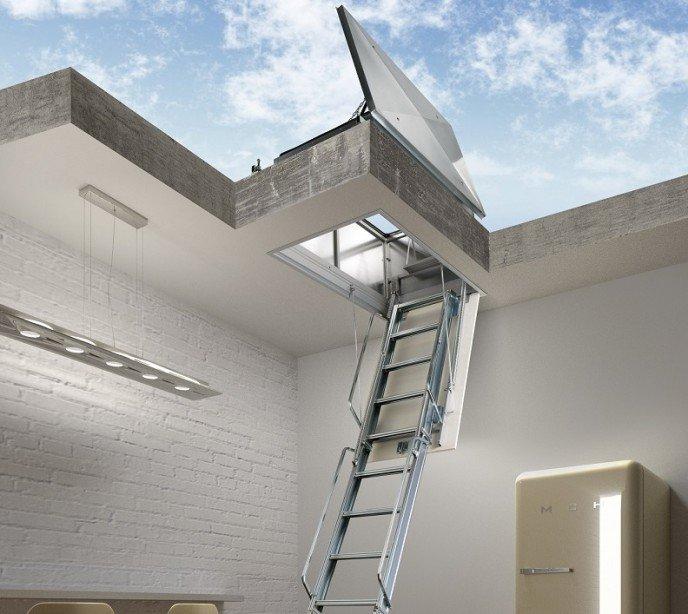 Чердачная лестница для плоской крыши Aci Terrazo