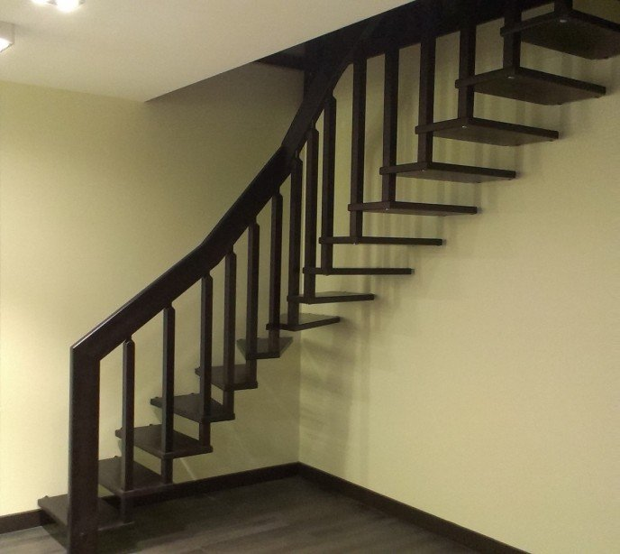 Деревянная лестница на больцах Магия 10