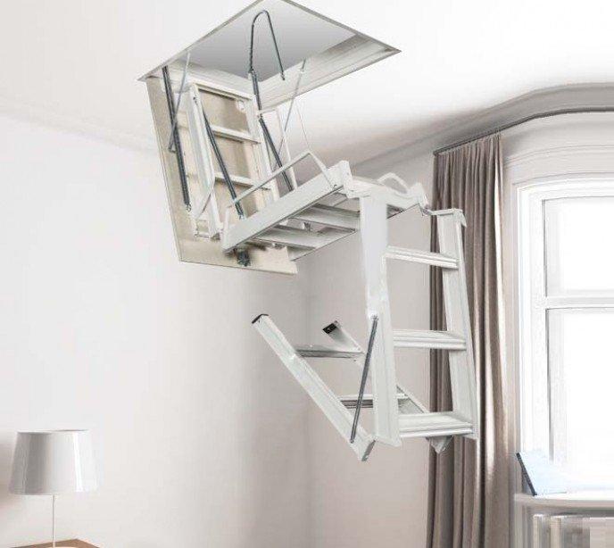 Раскладная чердачная лестница с люком Aci 4