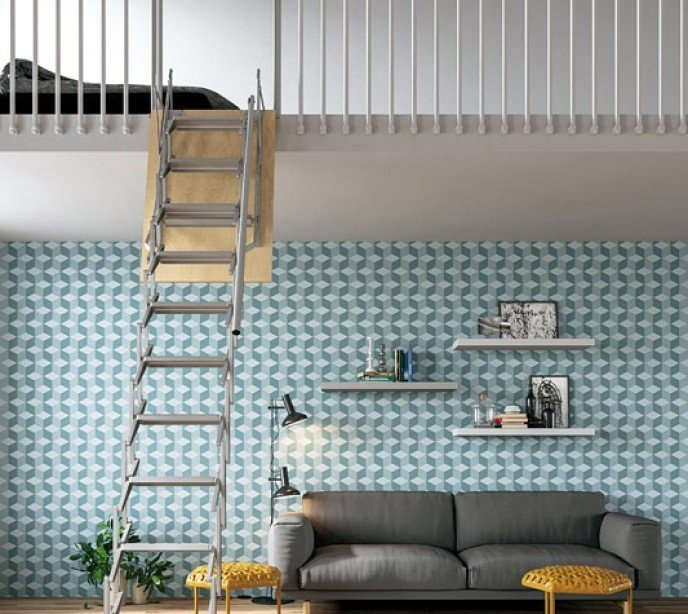 Выдвижная лестница для антресоли Loft
