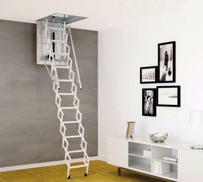 Чердачная лестница с электроприводом Escalmatic Motora Rintal