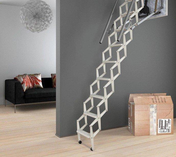 Автоматическая чердачная лестница с электроприводом Ecalmatic Италия