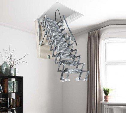 Раздвижная чердачная лестница из литого алюминия Aci Alluminio