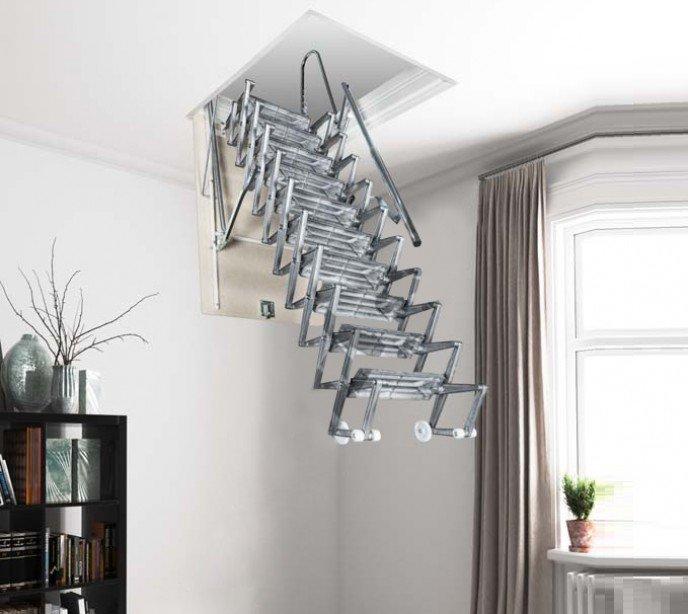 Раздвижная чердачная лестница Aci Alluminio