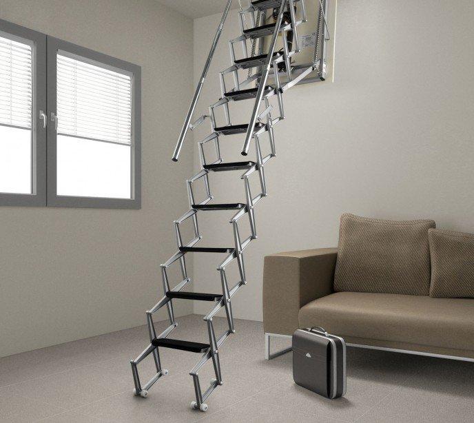 Лестница на чердак электрическая Aci Alluminio Moto G
