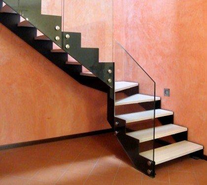 Маршевая лестница со стеклом Thema Vetro