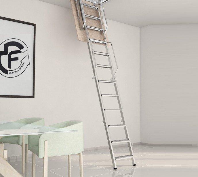 Складная чердачная лестница с люком Rigida