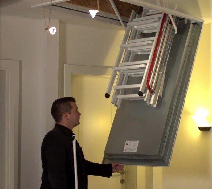 Складная лестница на чердак с утепленным люком Wippro Isotec