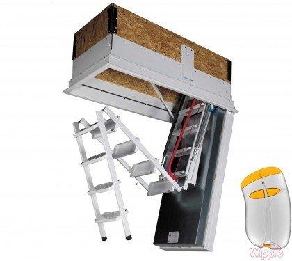 Утепленная чердачная лестница с электроприводом Wippro Electro