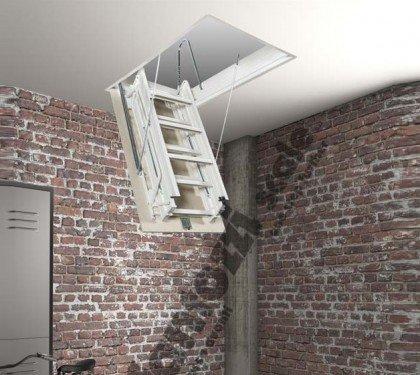 Металлическая складная лестница на чердак Aci 3 Metal