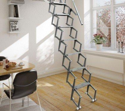 Электрическая чердачная лестница литой алюминий Motor Base Fantozzi Scale