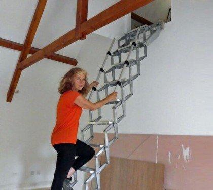Чердачная лестница без люка Elite Vertical