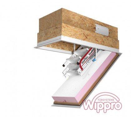 Утепленная чердачная лестница с люком Wippro Klimatec