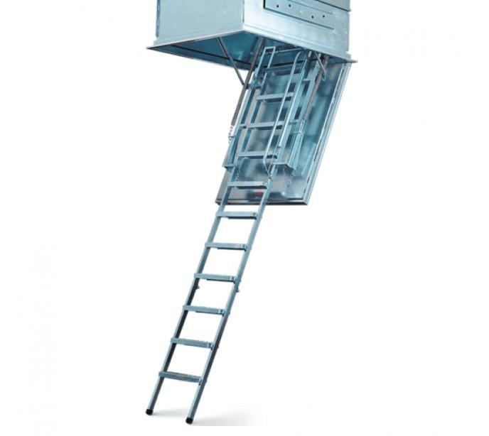 Металлическая чердачная лестница утепленная Wippro Zink