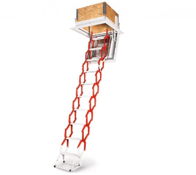 Выдвижная лестница на чердак с люком утепленная Wippro Space
