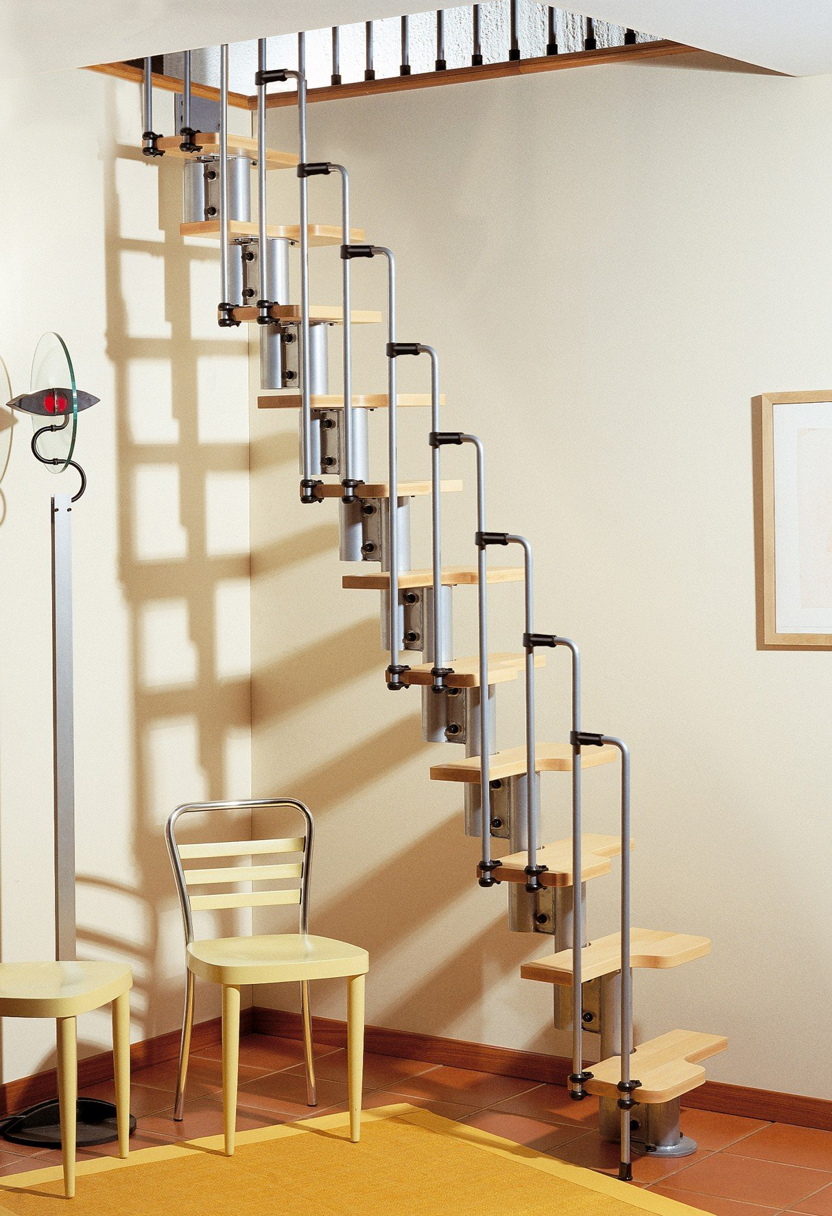 Retractable spiral staircase turtle wax wash and dry