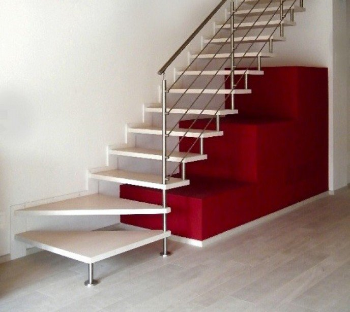 Маршевая лестница на больцах Laser 1