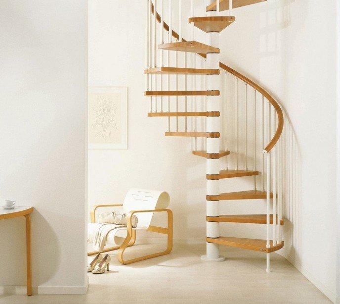 Винтовая комбинированная лестница Genius T020
